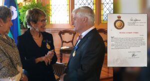 Peter Tyree recognised for Services to Engineering and Education.